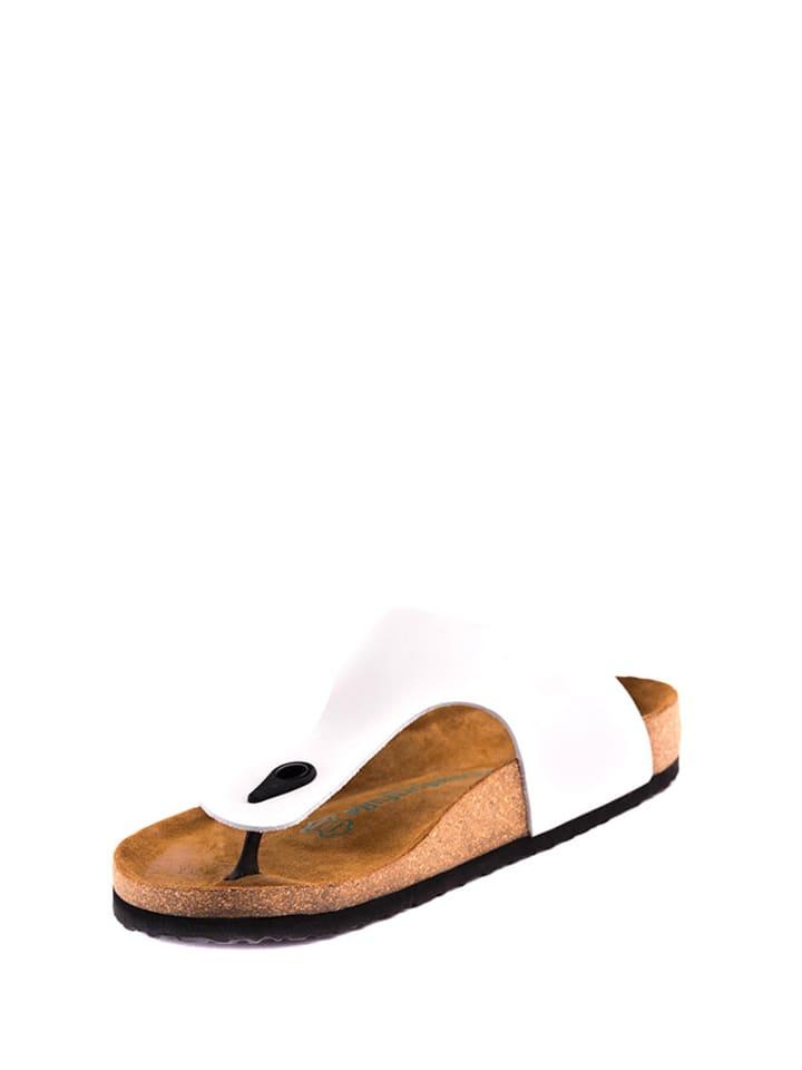 Comfortfusse Sandales à bride en cuir - blanc