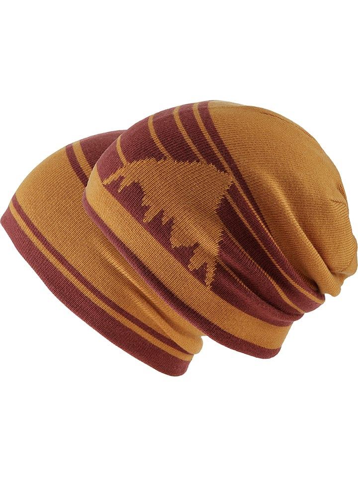 Burton Dwustronna czapka w kolorze czerwono-pomarańczowym