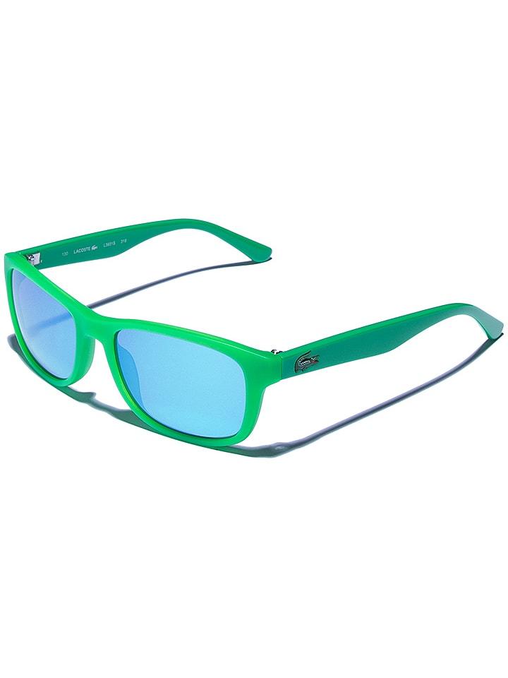 Lacoste Dziecięce okulary przeciwsłoneczne w kolorze zielono-niebieskim