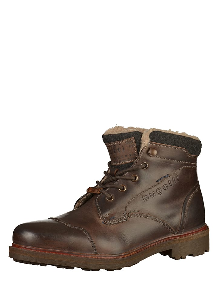 info for 138b9 71d2e Bugatti - Leder-Boots in Braun | limango Outlet