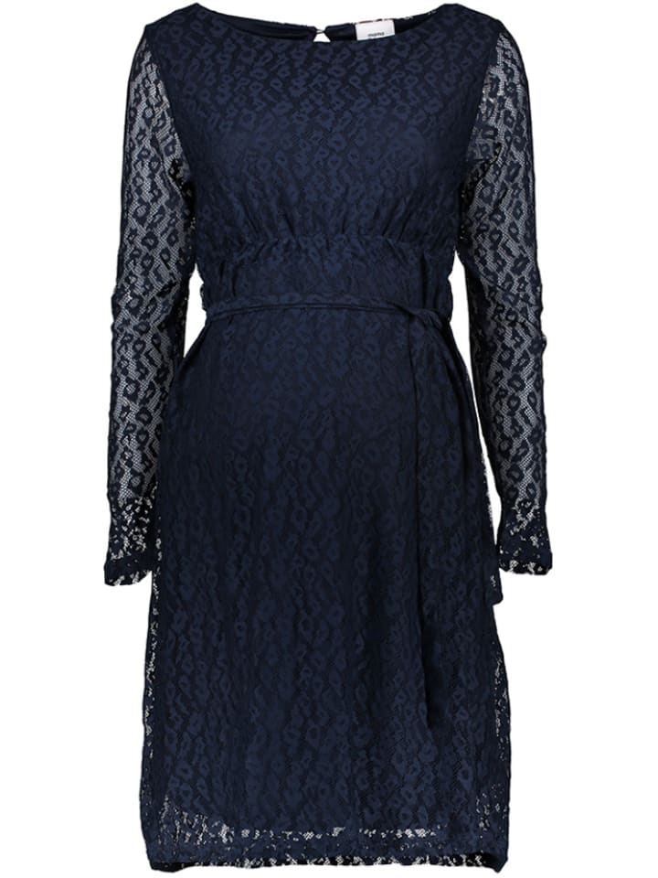 Mama licious Robe de maternité - bleu foncé