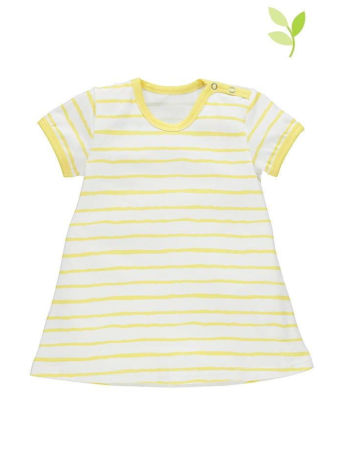 Lamino Sukienka w kolorze biało-żółtym