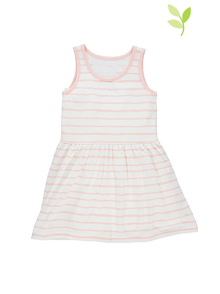 Lamino Sukienka w kolorze biało-jasnoróżowym