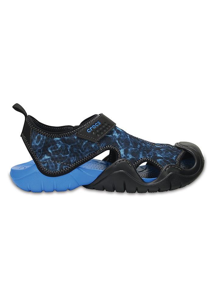 "Crocs Sandales ""Swiftwater Graphic"" - bleu foncé/bleu"