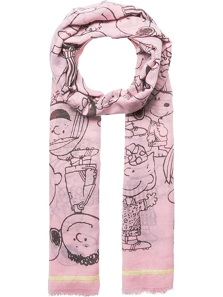 """Codello Szal """"Peanuts"""" w kolorze jasnoróżowym - 180 x 100 cm"""