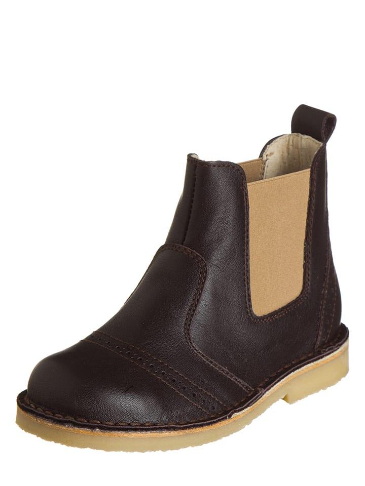 Kmins - Boots chelsea en cuir - marron foncé   Outlet limango 051423121346
