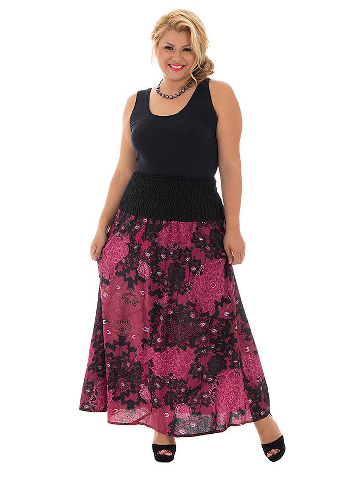 Aller Simplement Spódnica w kolorze czarno-różowym