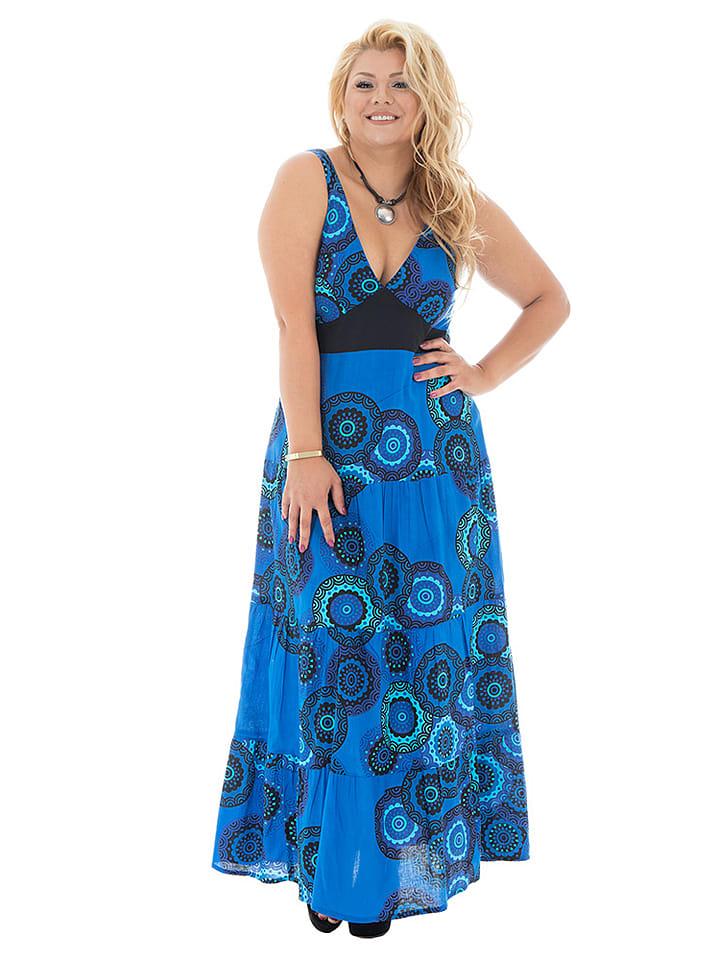 Aller Simplement Kleid in Blau/ Schwarz