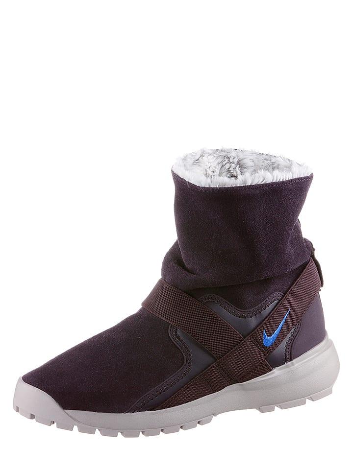 Nike Skórzane botki w kolorze fioletowym