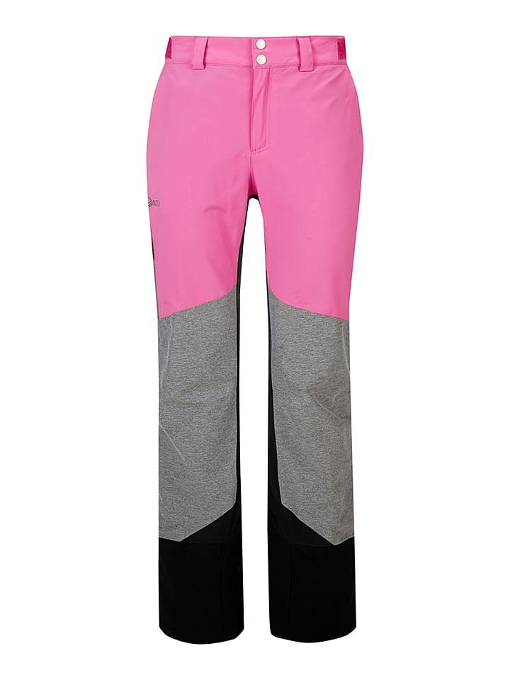 "Halti Ski-/snowboardbroek ""Visp"" roze/grijs/zwart"
