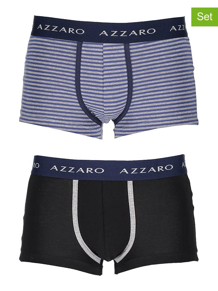Azzaro Underwear Bokserki (2 pary) w kolorze niebiesko-czarnym