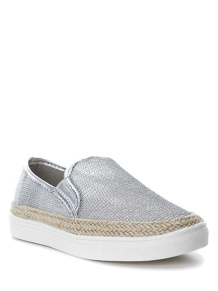 Xti Slippersy w kolorze srebrnym