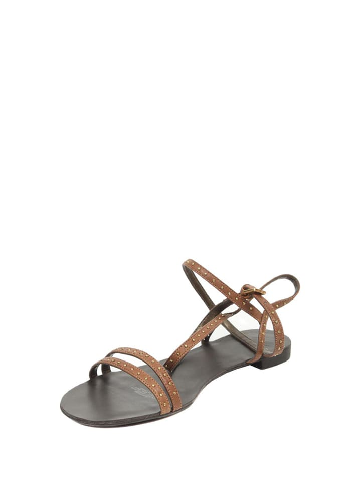 15eb7d8165df6 Skórzane sandały w kolorze brązowym - Nine West - Wyprzedaż w Outlet ...