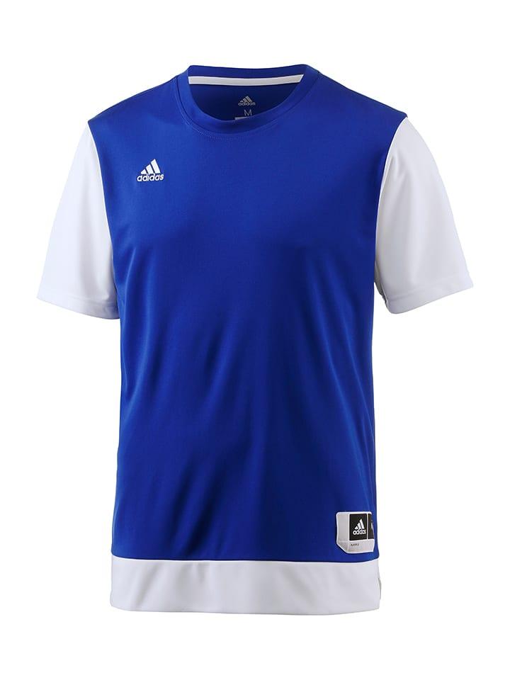 Adidas T-shirt fonctionnel - bleu/blanc