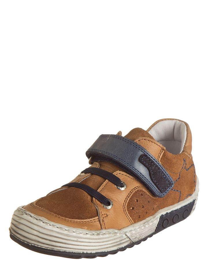 BO-BELL Leder-Sneakers in Hellbraun