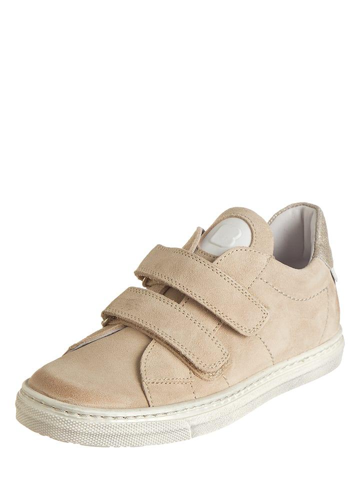 BO-BELL Skórzane sneakersy w kolorze beżowym