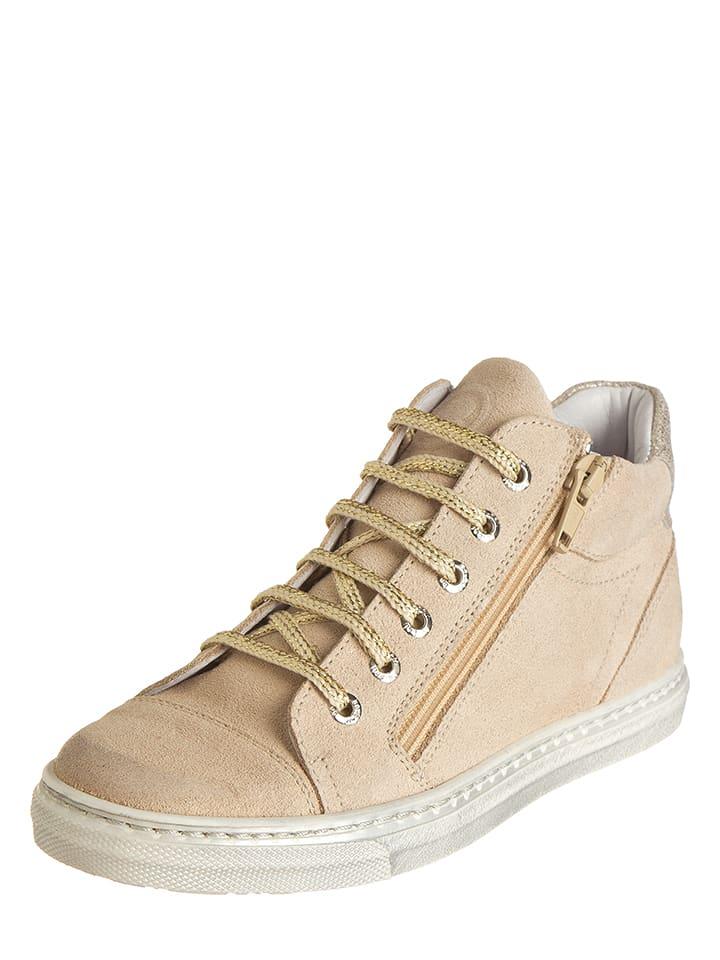 BO-BELL Leder-Sneakers in Beige