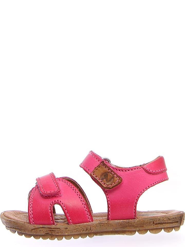 Naturino Skórzane sandały w kolorze różowym