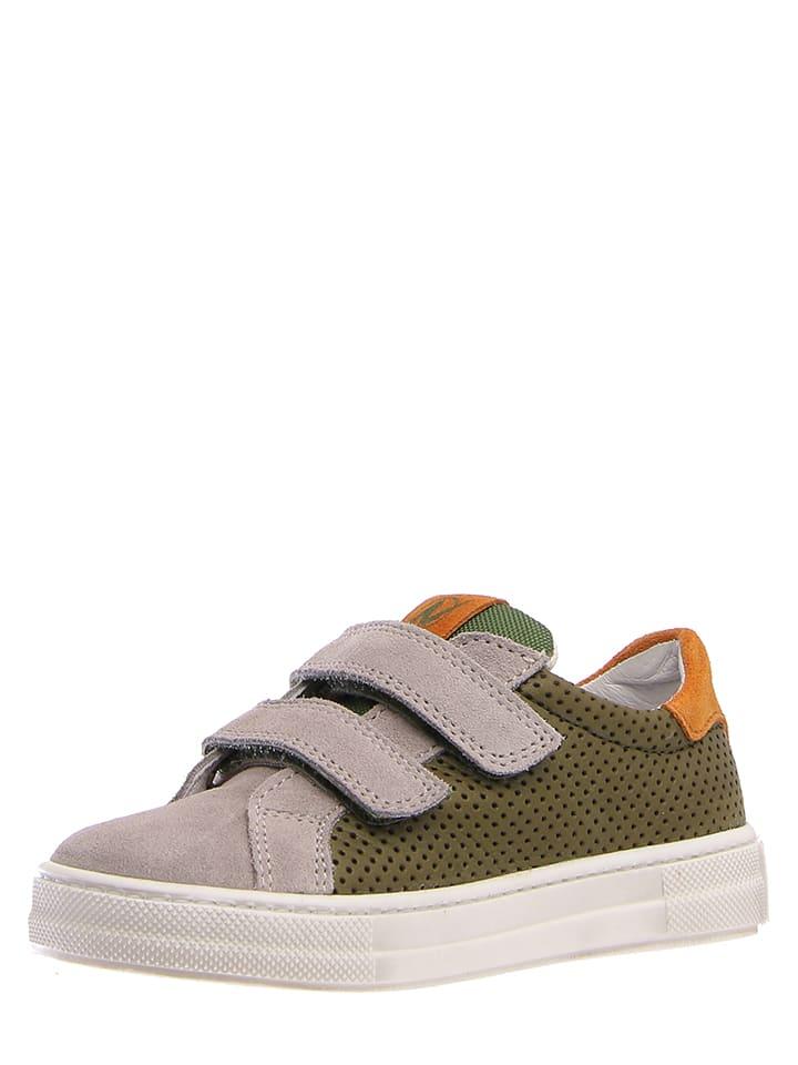"""Naturino Sneakersy """"5070 VL"""" w kolorze zielono-pomarańczowym"""