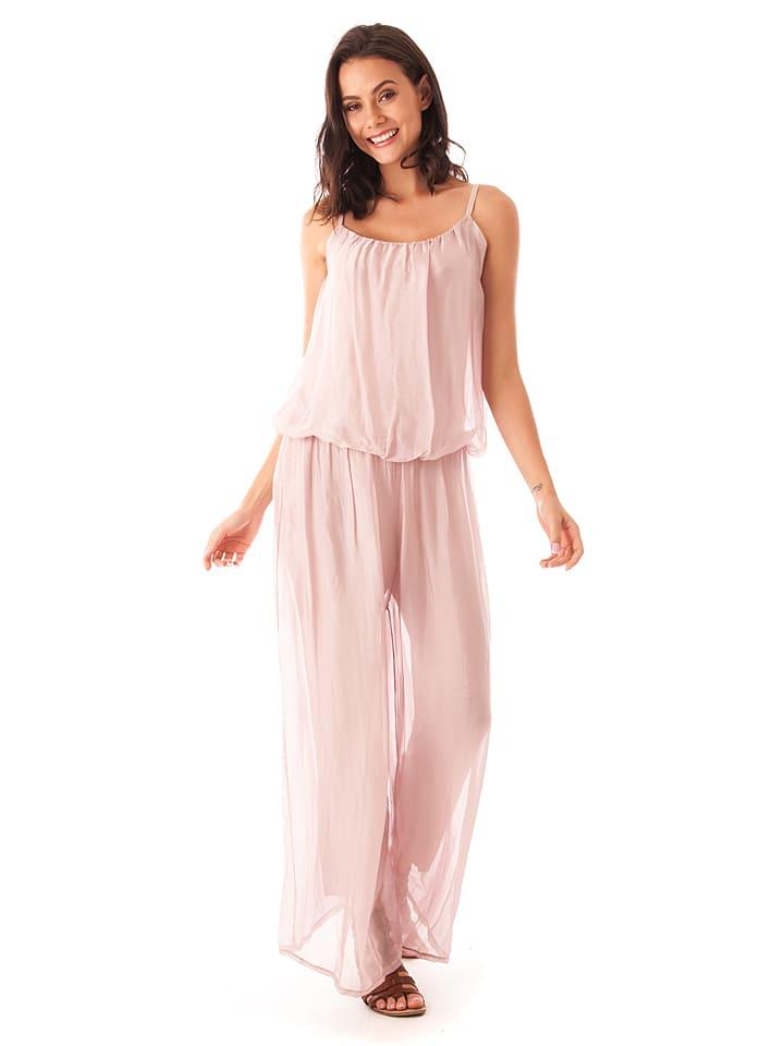 56d247344739 Silk Factory - Seiden-Jumpsuit in Rosa   limango Outlet