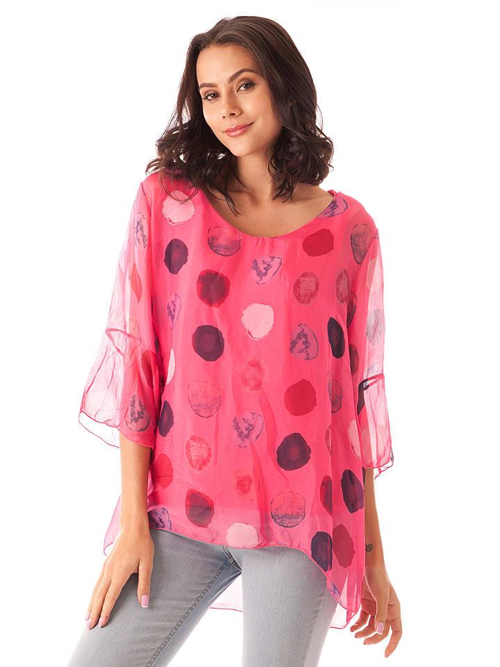 e1f530aafcb0 100% Soie - Seiden-Shirt in Fuchsia   limango Outlet