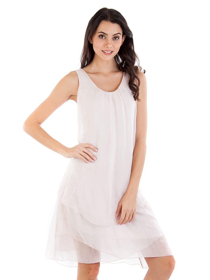 c3d26229489c 100% Soie - Seiden-Kleid in Rosa   limango Outlet