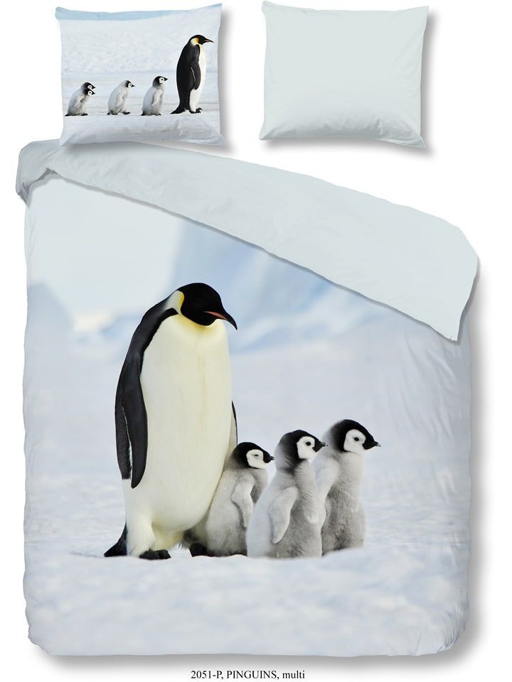Good Morning Bettwäsche Set Pinguins In Hellblau Limango Outlet