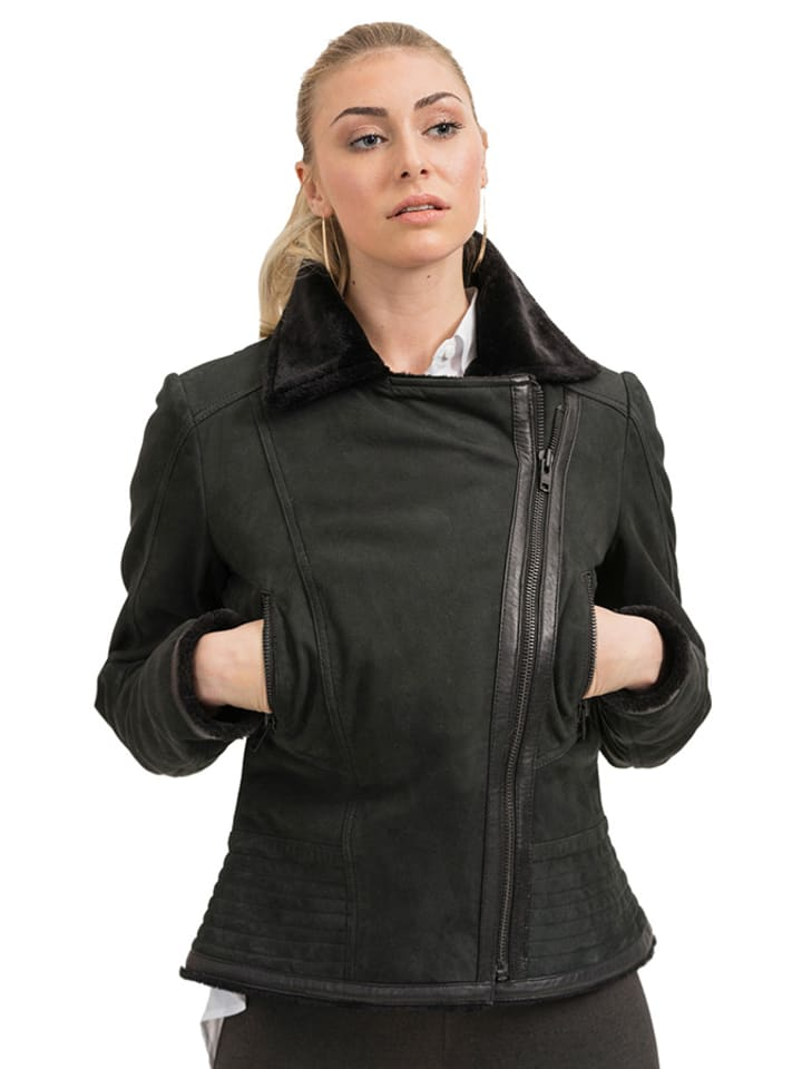 True Prodigy Skórzana kurtka w kolorze czarnym