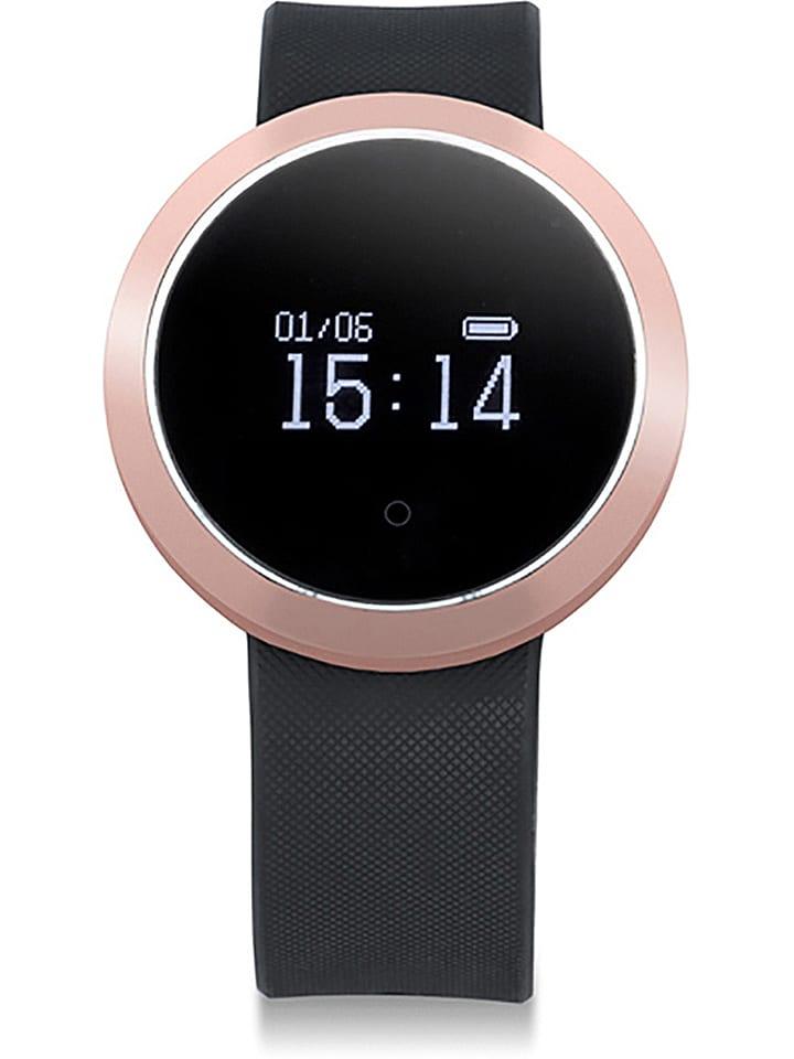 Evetane Smartwatch w kolorze czarno-różowozłotym