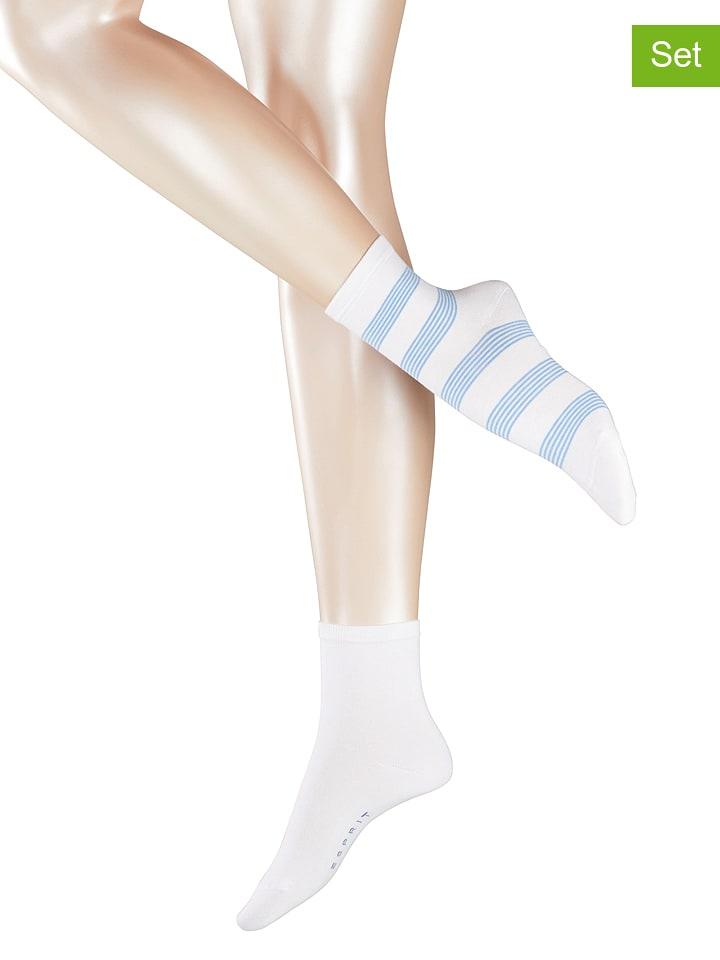 6fc2109e18a64 ESPRIT - Lot de 4: paires de chaussettes - blanc | Outlet limango