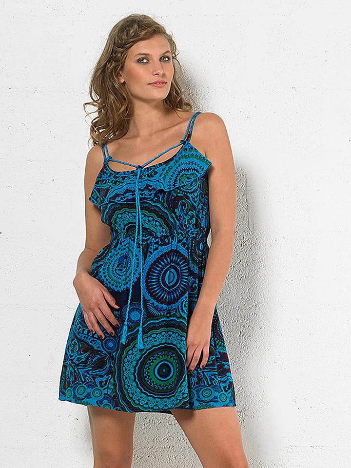 Kleid blau turkis