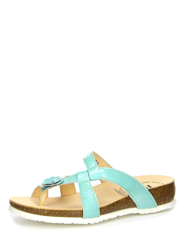 "Think! Leder-Zehentrenner ""Julia"" in Mint"