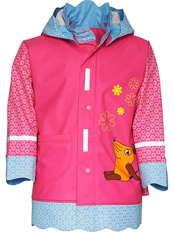 Playshoes Regenmantel roze/lichtblauw