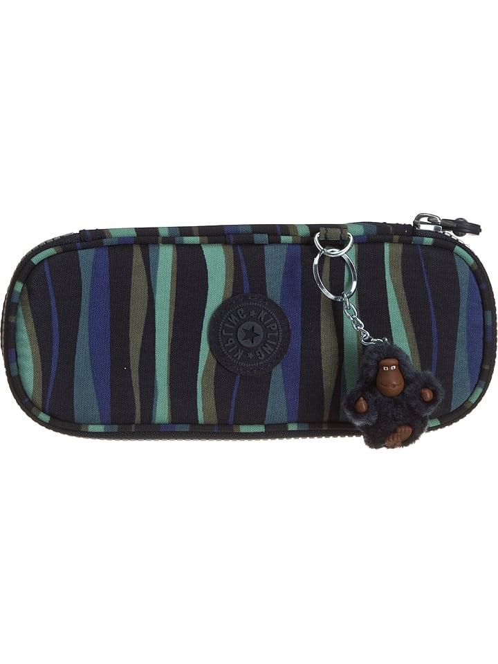 "Kipling Trousse ""Kaybox"" - bleu foncé/menthe - 21 x 8,5 x 5 cm"