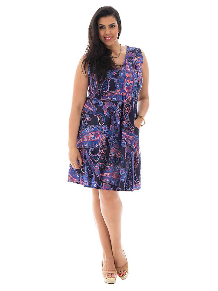 Aller Simplement Sukienka w kolorze czarno-fioletowym