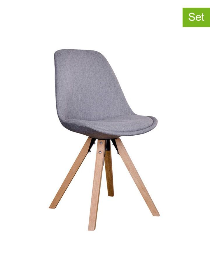 House Nordic 2-delige set: stoelen grijs