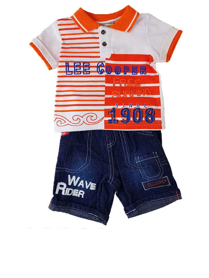 Lee Cooper 2-delige outfit oranje