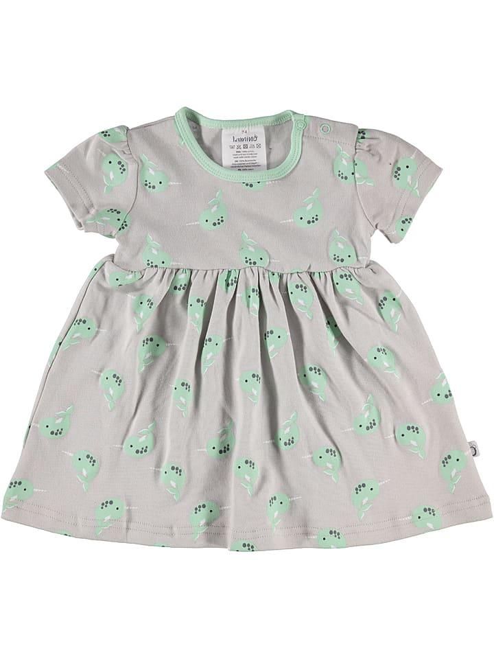Lamino Sukienka w kolorze zielono-białym
