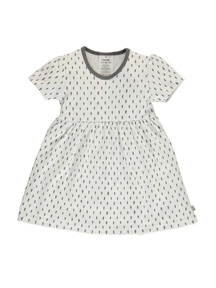 Lamino Sukienka w kolorze szaro-białym
