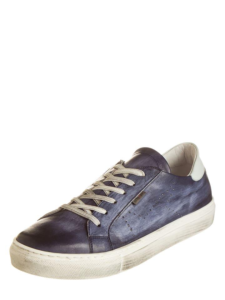Otto Kern Leder-Sneakers in Blau