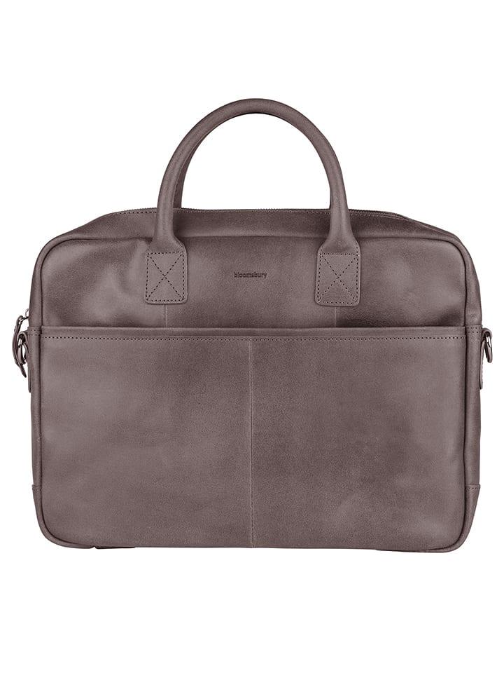 Bloomsbury  Leder-Laptoptasche in Grau (B)40 x (H)29 x (T)5 cm | 58% Rabatt | Damen taschen | 08717128074845