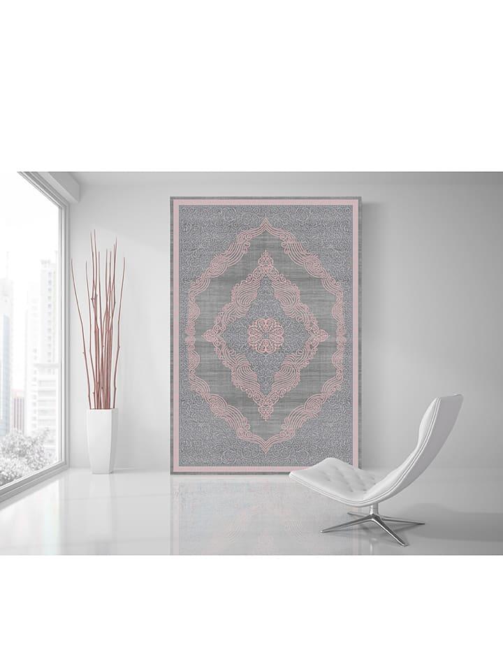 """Laagpolig tapijt """"Elit"""" grijs/lichtroze"""