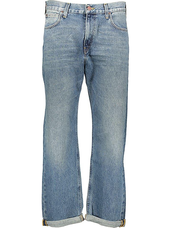 """Lee Dżinsy """"Loose Straight"""" - Wide Leg - w kolorze niebieskim"""