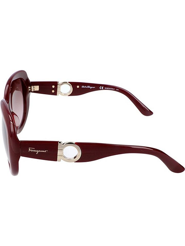 b9bef38d34a9 Okulary damskie w kolorze bordowo-złoto-brązowym - Salvatore Ferragamo -  Wyprzedaż w Outlet Limango