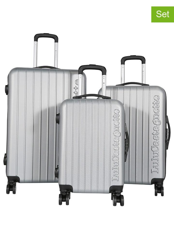 Lulu Castagnette 3tlg. Hardcase-Trolleyset in Silber
