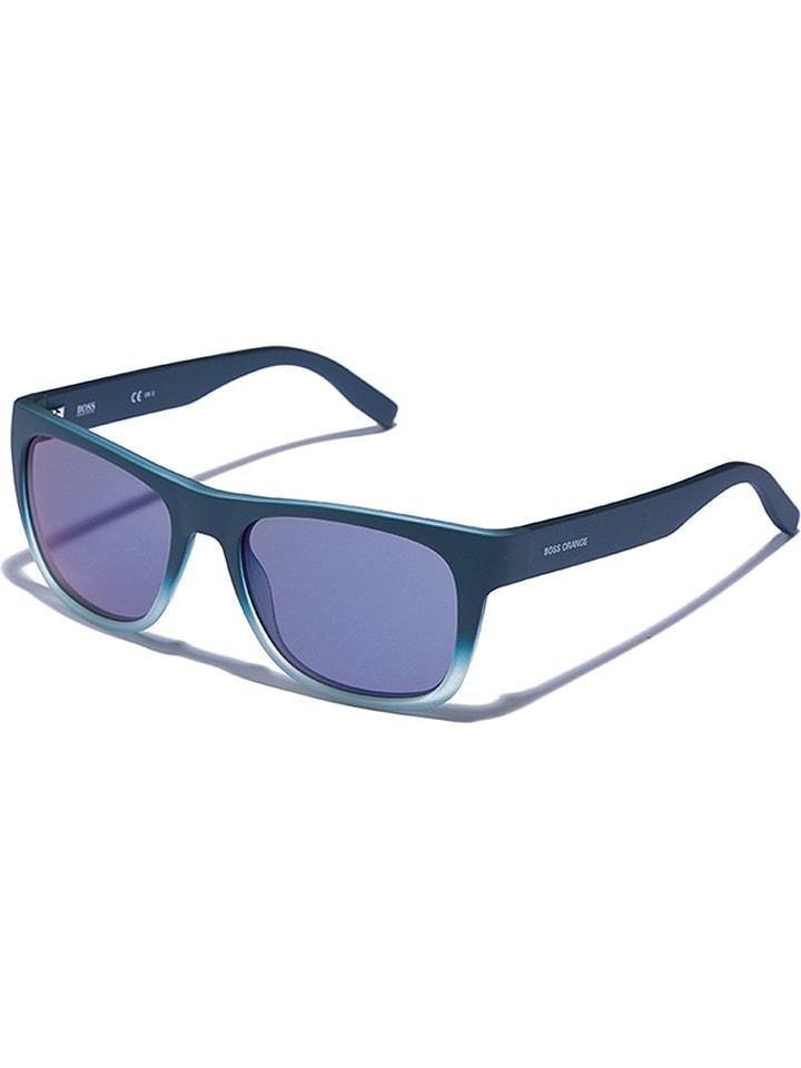 Hugo Boss Okulary męskie w kolorze morsko-niebieskim