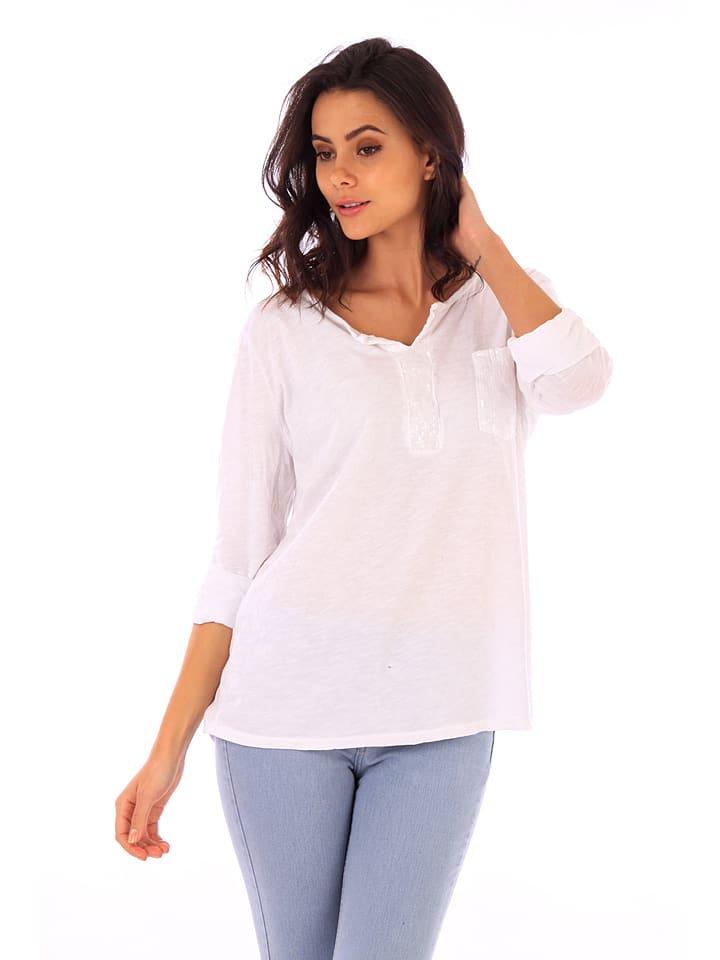 100% Coton Shirt in Weiß