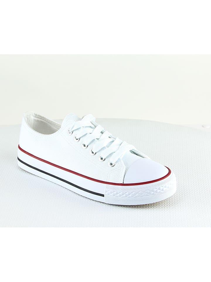 Suredelle Sneakers in Weiß/ Rot