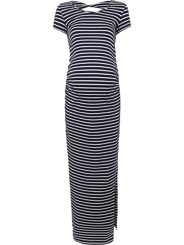 Bellybutton Kleid in Dunkelblau/ Weiß