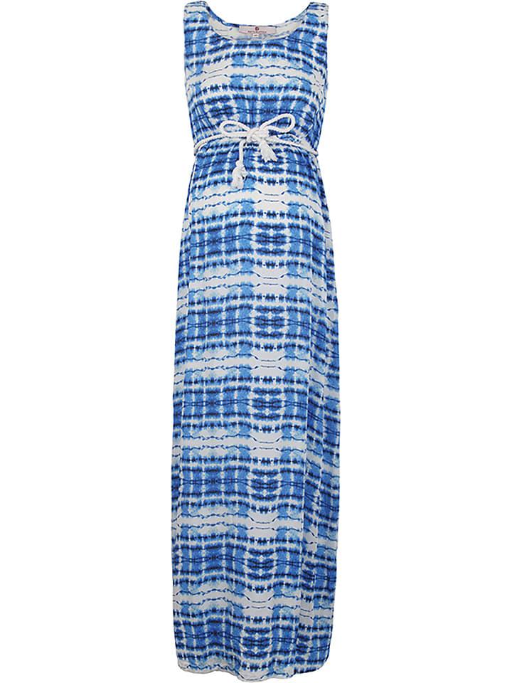 Bellybutton Robe de maternité - bleu/blanc